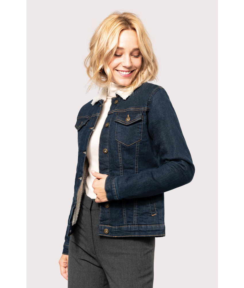 Kariban | K6139 | Ladies' sherpa-lined denim jacket