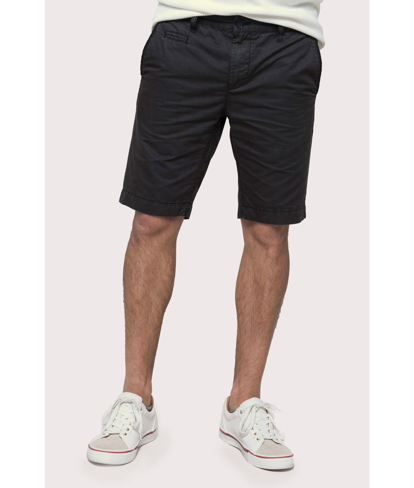 Kariban | K752 | Men's washed effect bermuda shorts