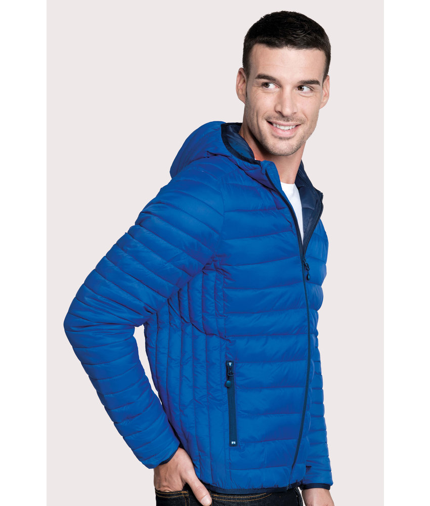 Kariban Men's lightweight hooded down jacket