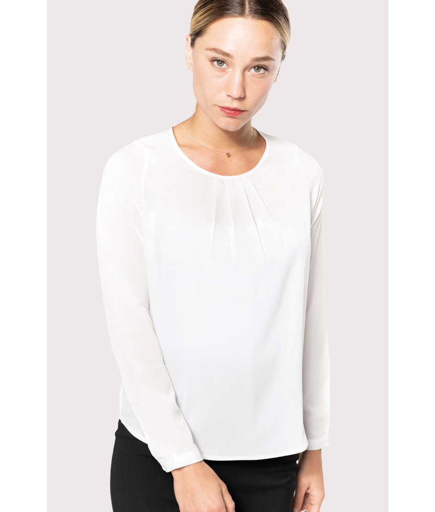 Kariban | K5003 | Ladies' long-sleeved crepe blouse