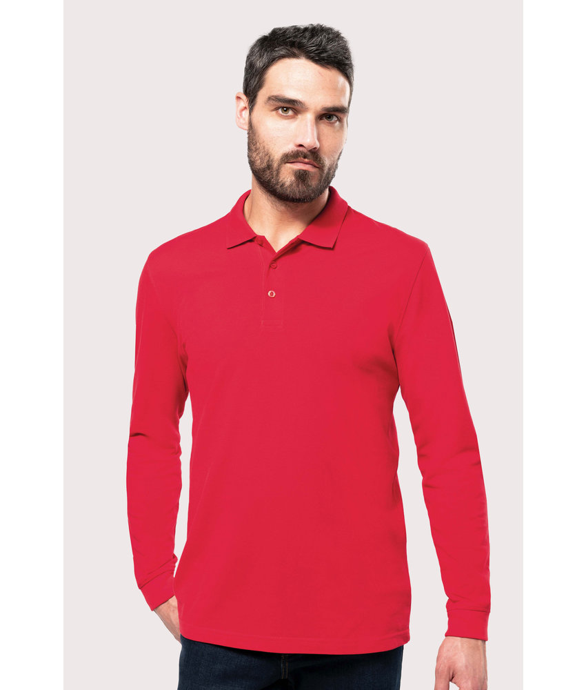 Kariban | K256 | Men's long-sleeved piqué polo shirt
