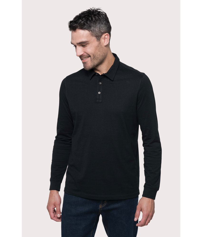 Kariban | K264 | Men's long sleeved jersey polo shirt