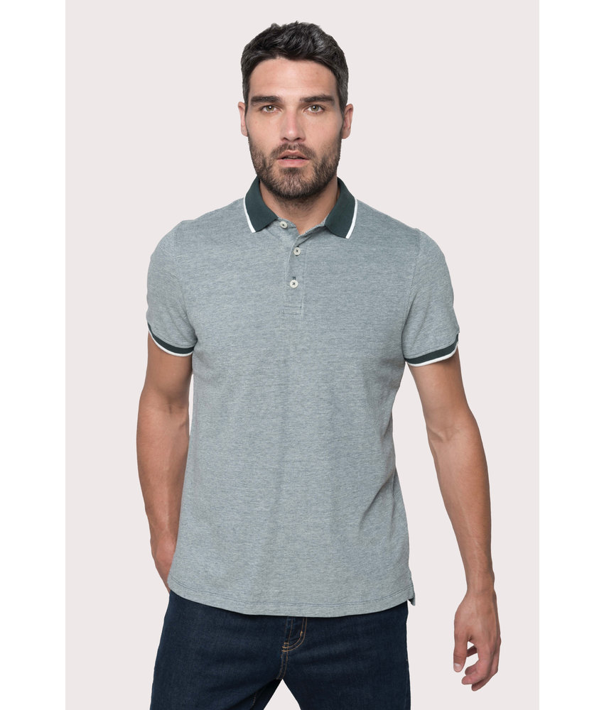 Kariban | K266 | Men's two-tone marl polo shirt