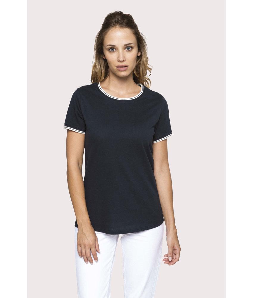 Kariban Dames-t-shirt piqué ronde hals