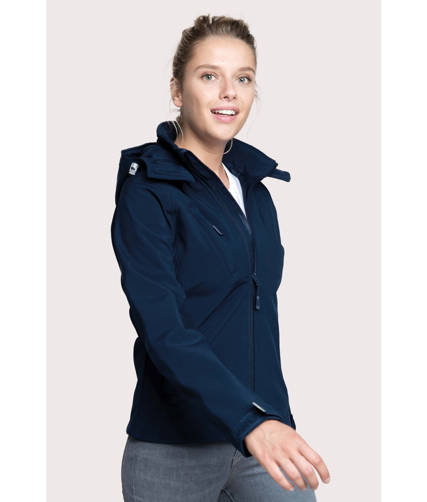 Kariban Dames Afneembare hooded softshell jas