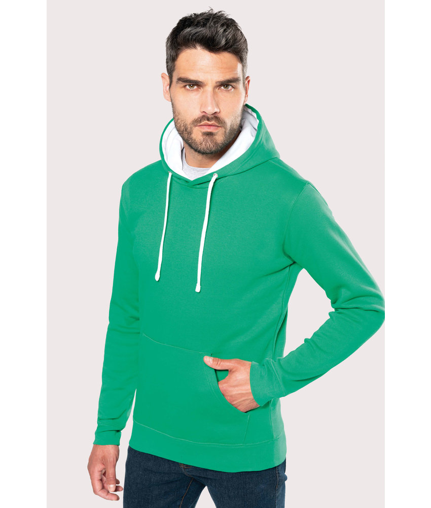 Kariban | K446 | Men's contrast hooded sweatshirt