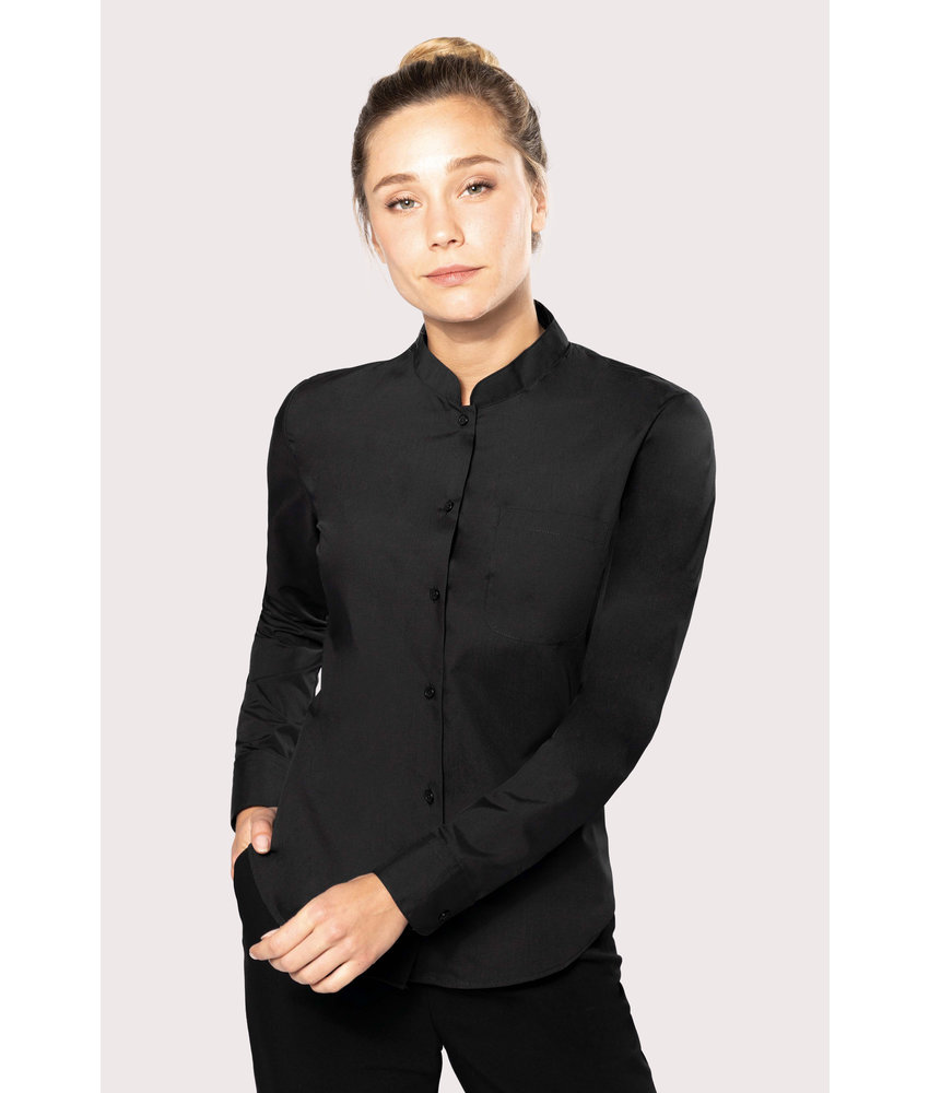 Kariban | K514 | Ladies' long-sleeved mandarin collar shirt