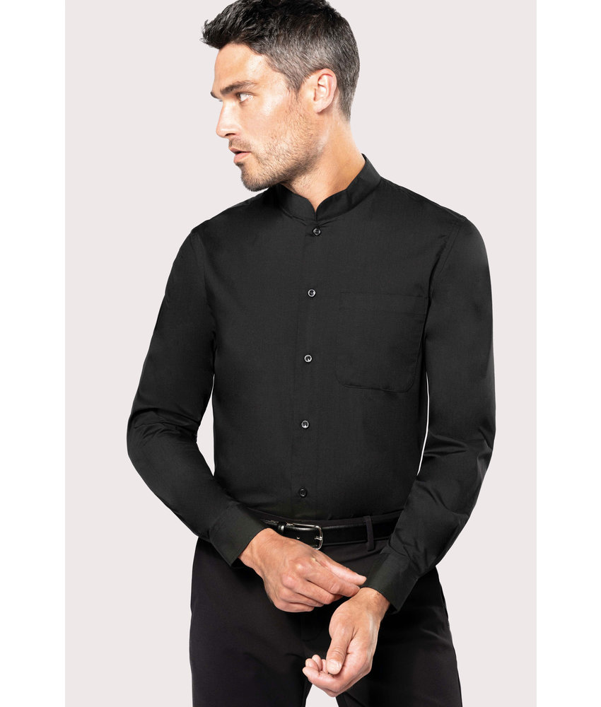 Kariban | K515 | Men's long-sleeved mandarin collar shirt