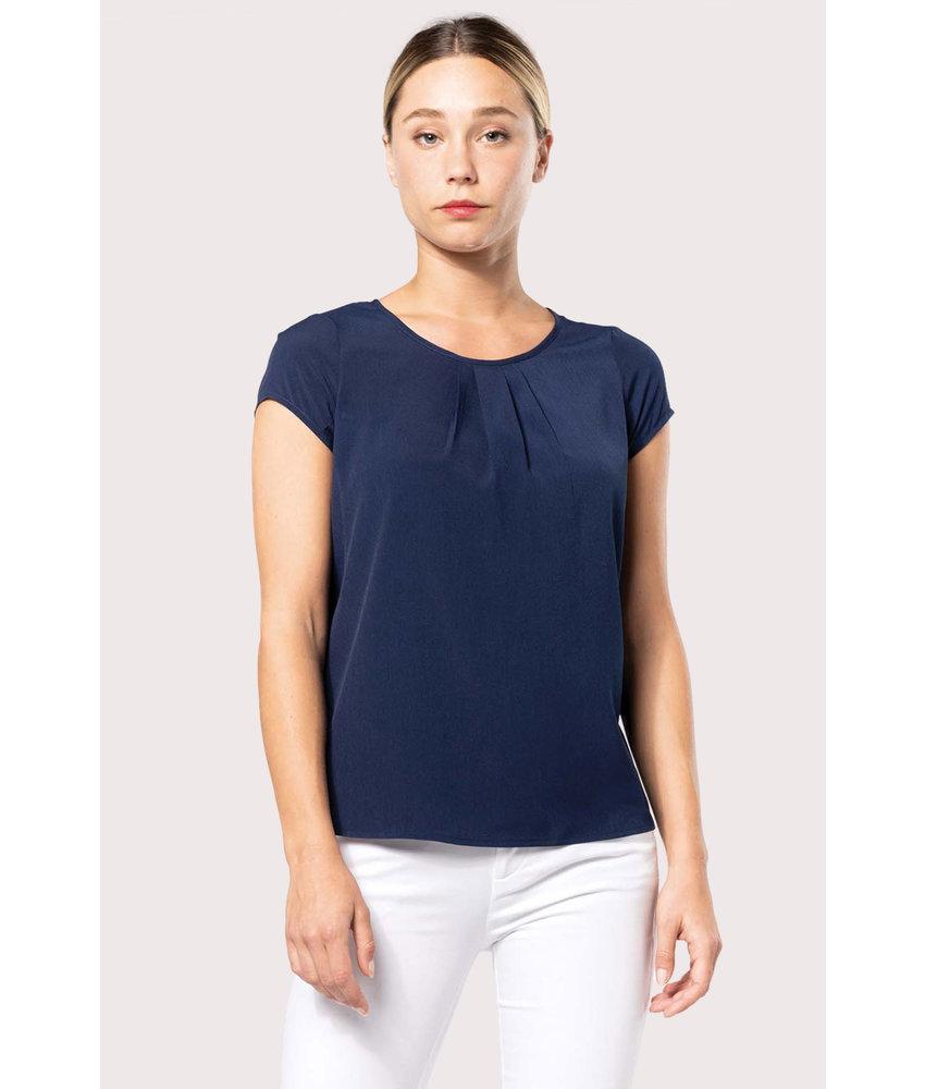 Kariban | K5002 | Ladies' short-sleeved crepe blouse