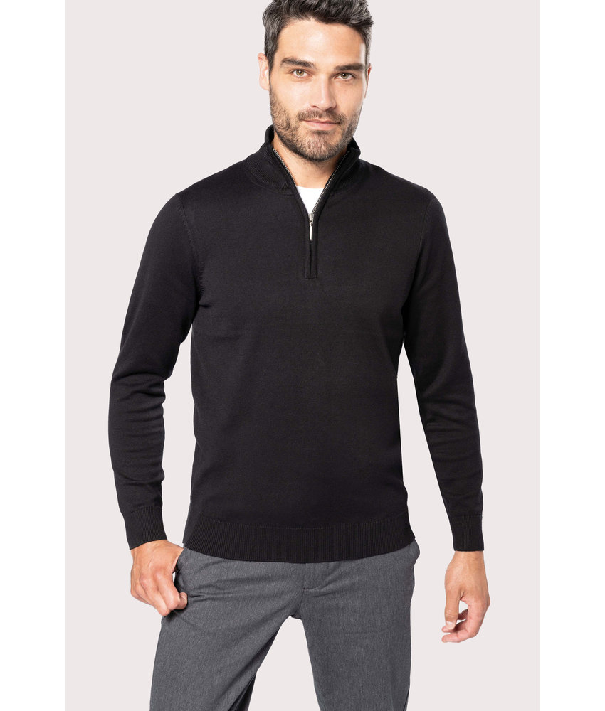 Kariban | K970 | Men's zip neck jumper