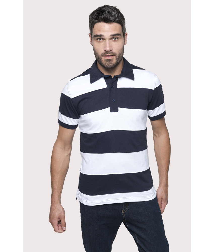 Kariban | K237 | Ray > Short-sleeved striped polo shirt