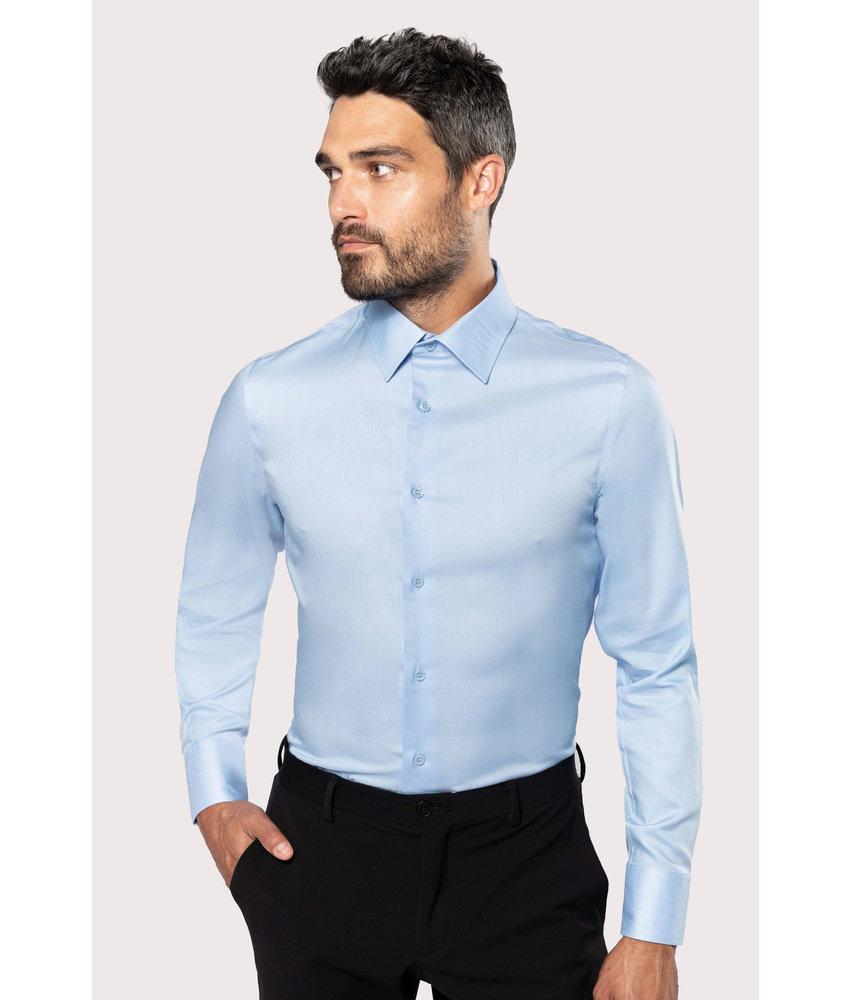 Kariban Getailleerd heren bon-iron overhemd lange mouwen