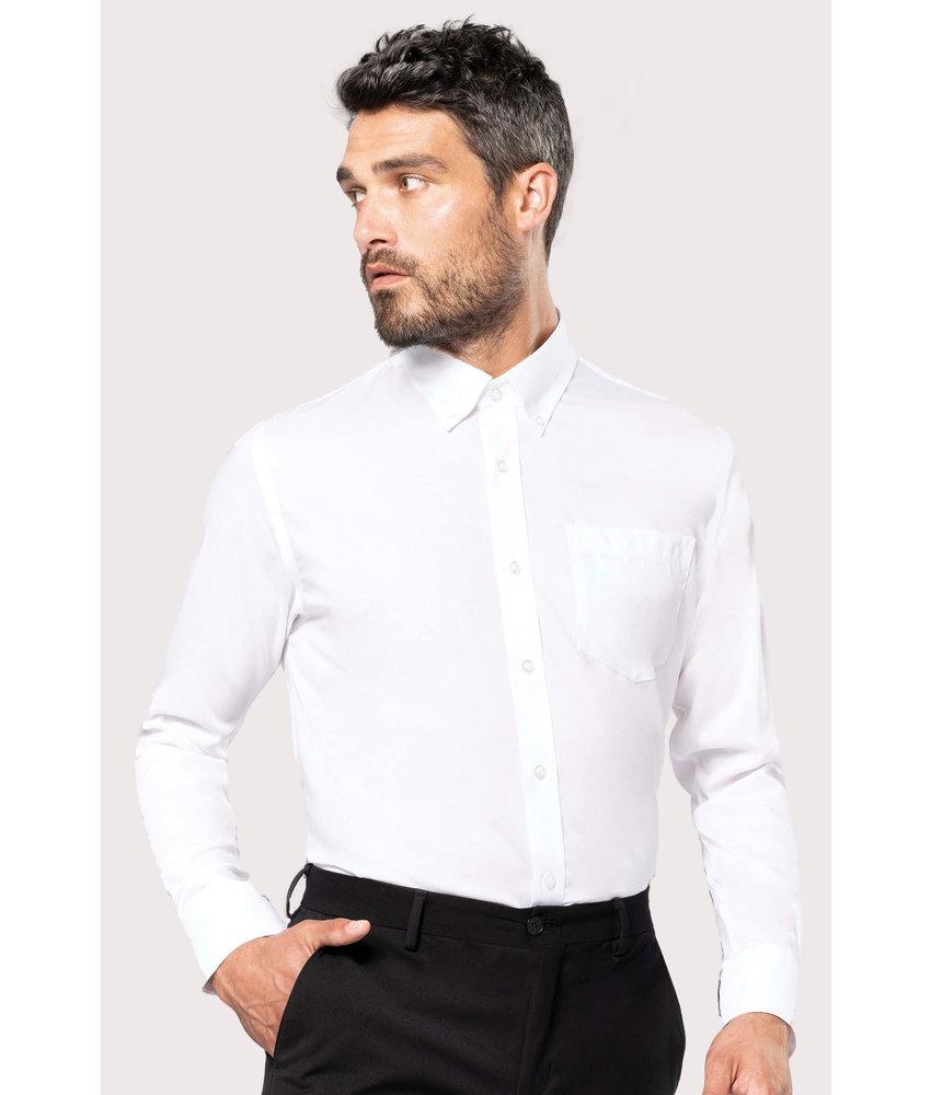 Kariban Heren non-iron overhemd lange mouwen