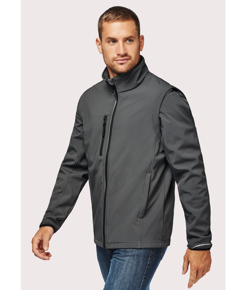 Proact | PA323 | UNISEX detachable sleeves softshell jacket