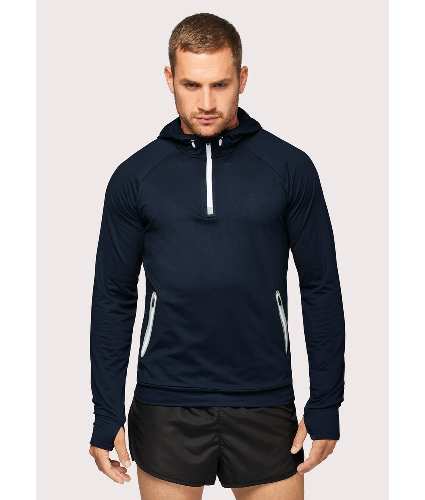 Proact | PA360 | Zip neck hooded sports sweatshirt