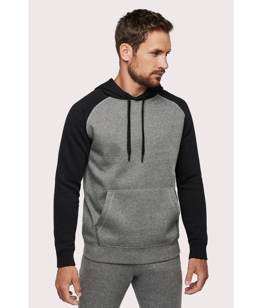 Proact | PA369 | Adult two-tone hooded sweatshirt