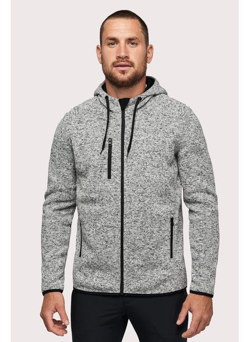 Proact   PA365   Men's heather hooded jacket