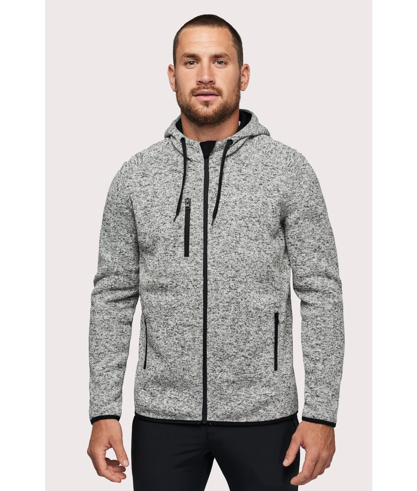 Proact | PA365 | Men's heather hooded jacket