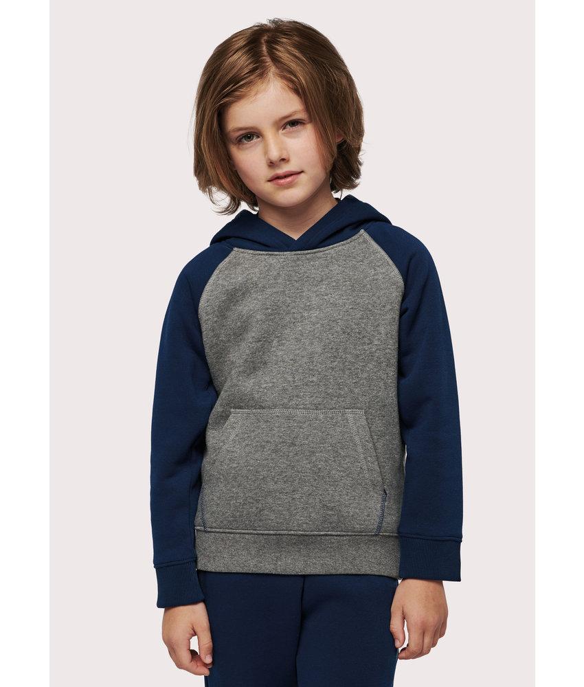 Proact | PA370 | Kids' two-tone hooded sweatshirt