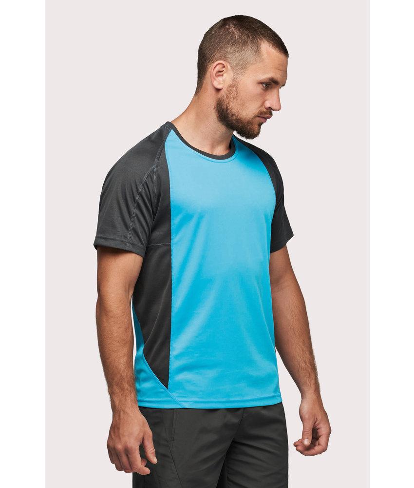 Proact Men's Bicolour Short Sleeve Crew Neck T-shirt