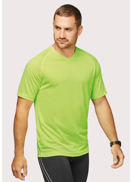 Proact   PA476   Men's V-neck short-sleeved sports T-shirt