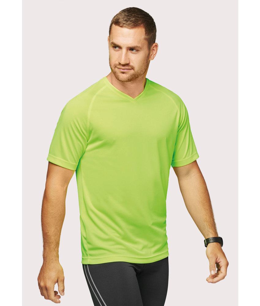Proact | PA476 | Men's V-neck short-sleeved sports T-shirt