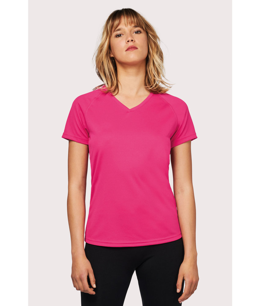 Proact | PA477 | Ladies' V-neck short-sleeved sports T-shirt