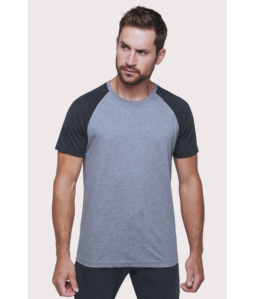 Proact | PA4010 | Adult Triblend two-tone sports short-sleeved t-shirt