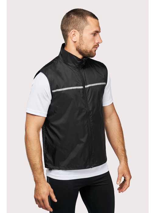 Proact   PA234   Running gilet with mesh back