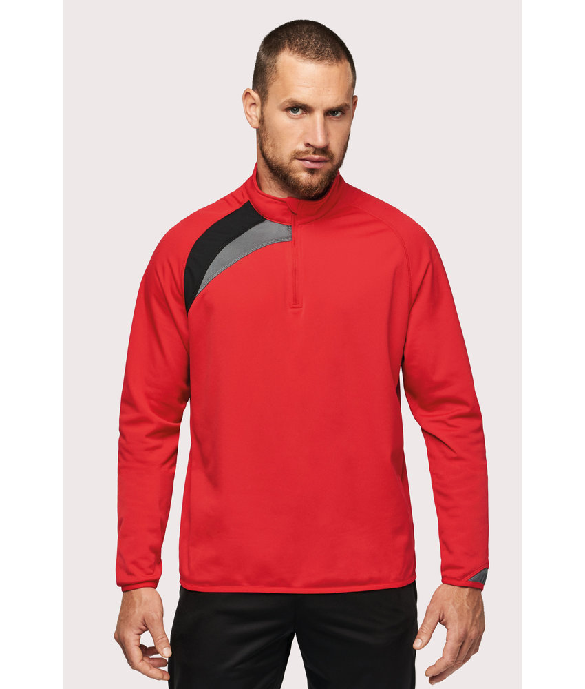 Proact | PA328 | Adults' zip neck training top