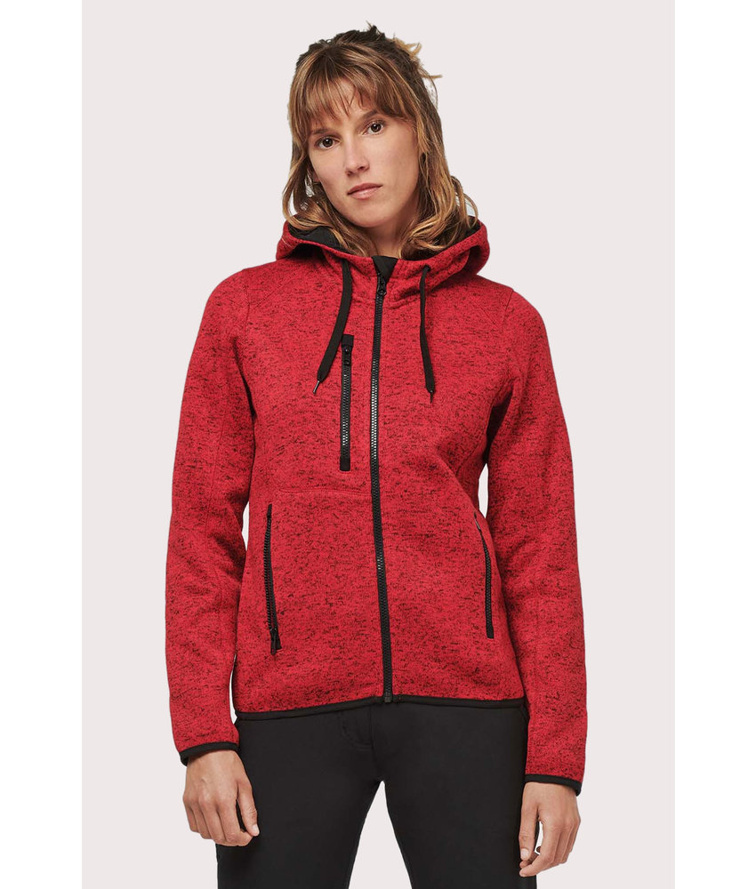 Proact | PA366 | Ladies' heather hooded jacket