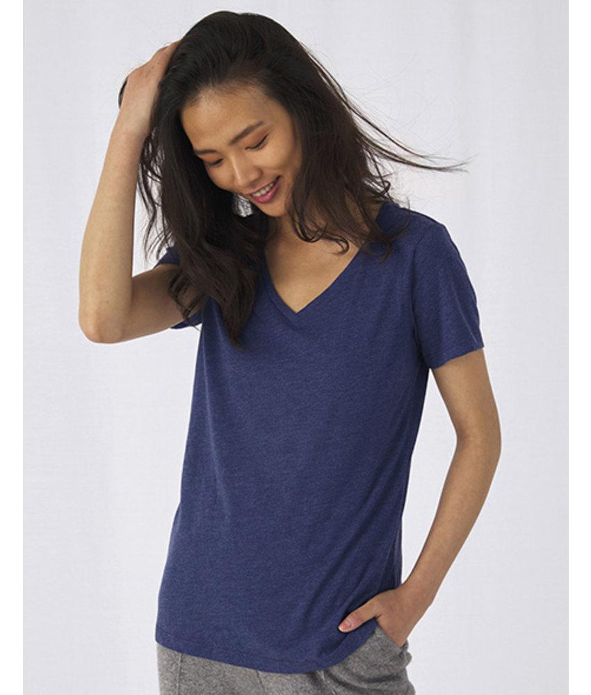 B&C Triblend V-Neck T-Shirt Women