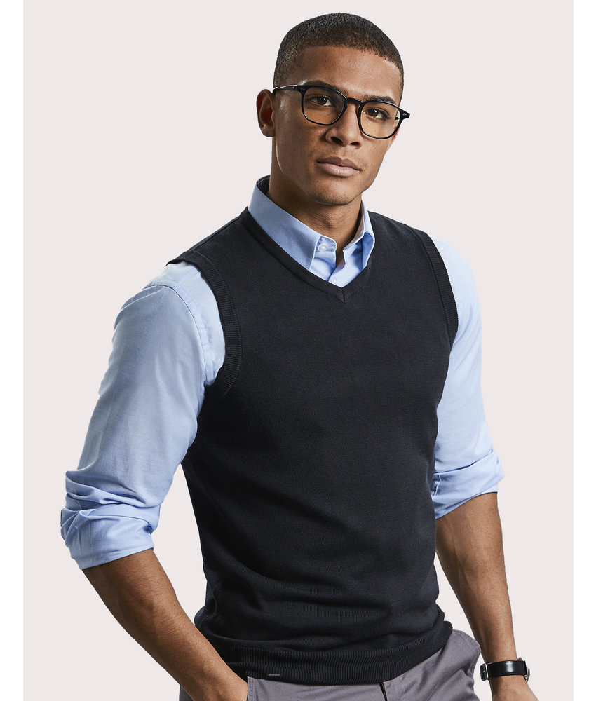 Russell Collection | RU716M | 704.00 | R-716M-0 | Adults' V-Neck Sleeveless Knitted Pullover