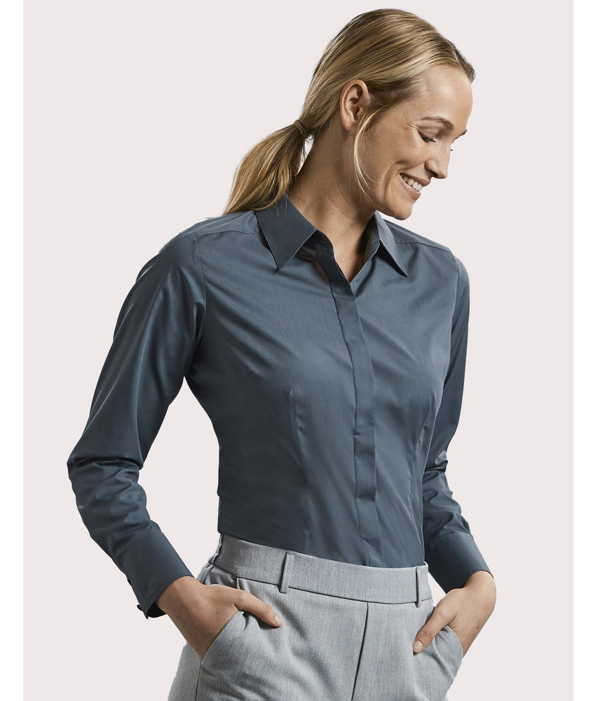 Russell Collection | RU924F | 712.00 | R-924F-0 | Ladies' LS Fitted Poplin Shirt