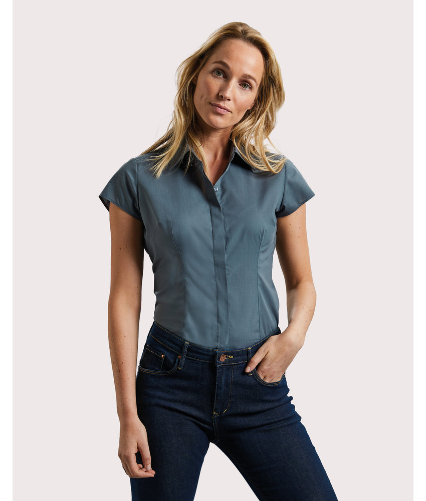 Russell Collection | RU925F | 729.00 | R-925F-0 | Ladies' Fitted Poplin Shirt