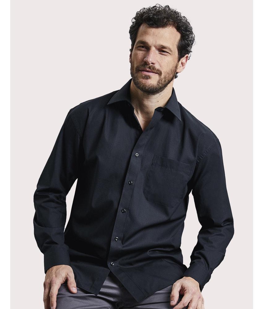 Russell Collection | RU936M | 736.00 | R-936M-0 | Cotton Poplin Shirt LS