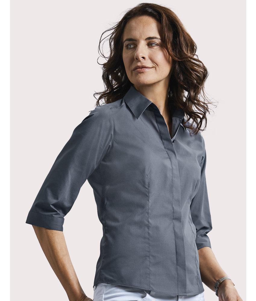 Russell Collection | RU926F | 740.00 | R-926F-0 | 3/4 sleeve Poplin Shirt