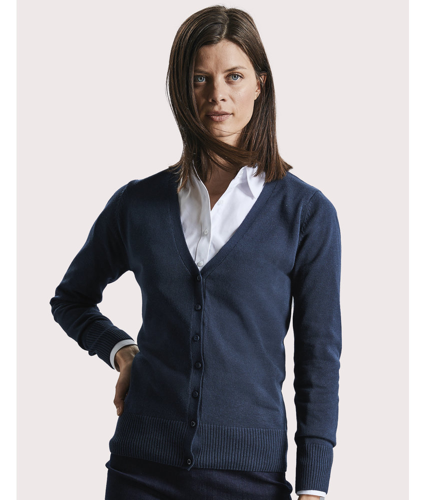 Russell Collection | RU715F | 774.00 | R-715F-0 | Ladies' V-Neck Knitted Cardigan