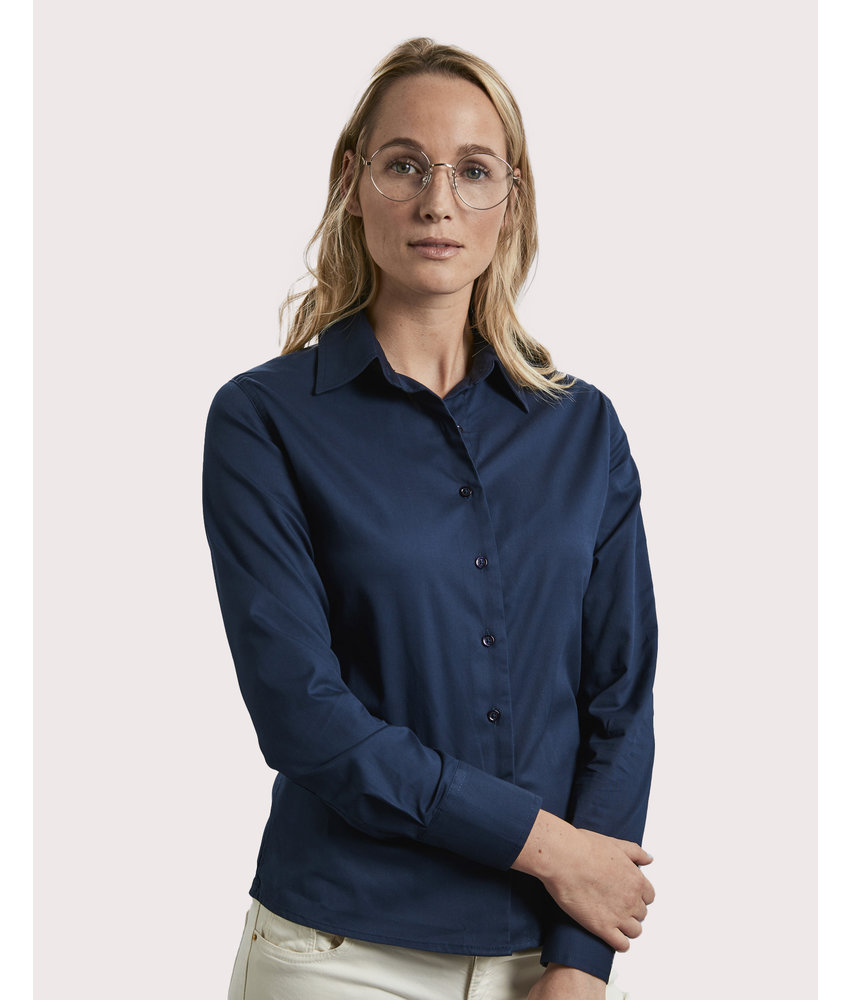 Russell Collection   RU916F   779.00   R-916F-0   Ladies' Classic Twill Shirt LS