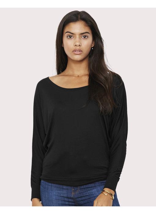 Bella + Canvas   BE8850   137.06   8850   Flowy LS Off Shoulder T-Shirt