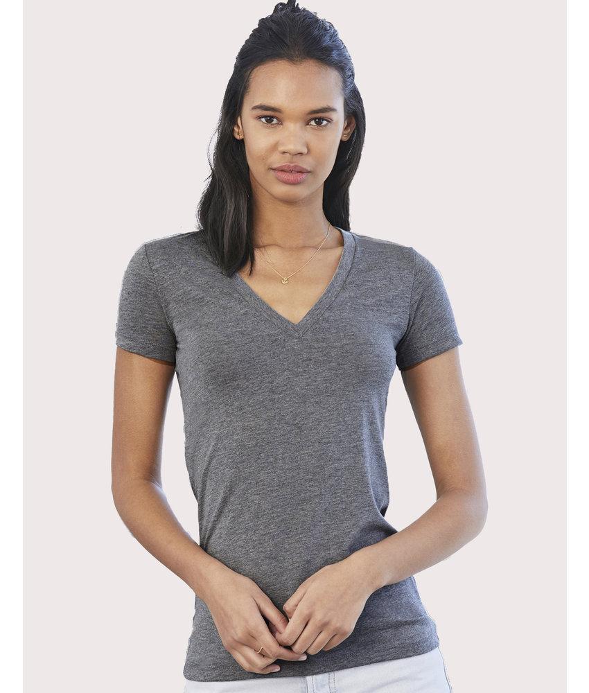 Bella + Canvas Women's Triblend Deep V-Neck T-Shirt