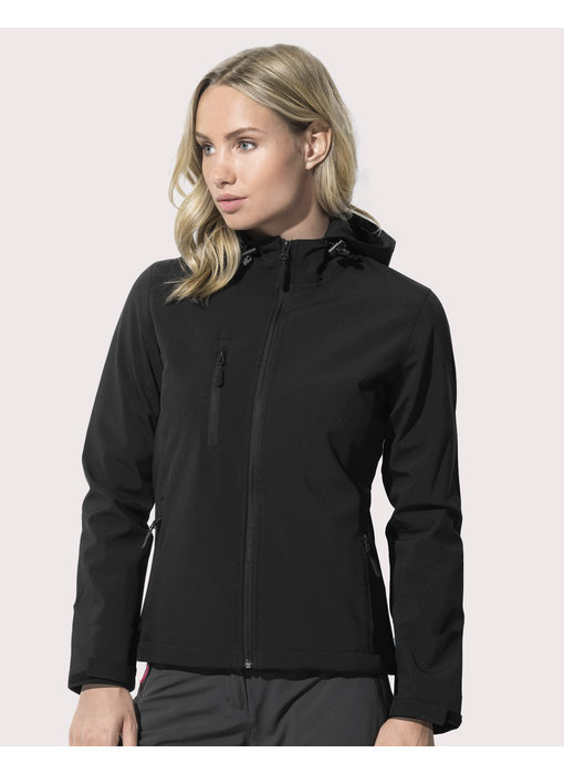 Stars by Stedman | 405.05 | ST5340 | Softest Shell Hooded Jacket Women