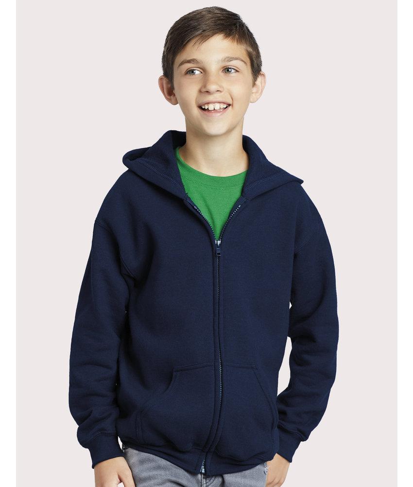 Gildan | GI18600B | 298.09 | 18600B | Heavy Blend Youth Full Zip Hooded Sweat