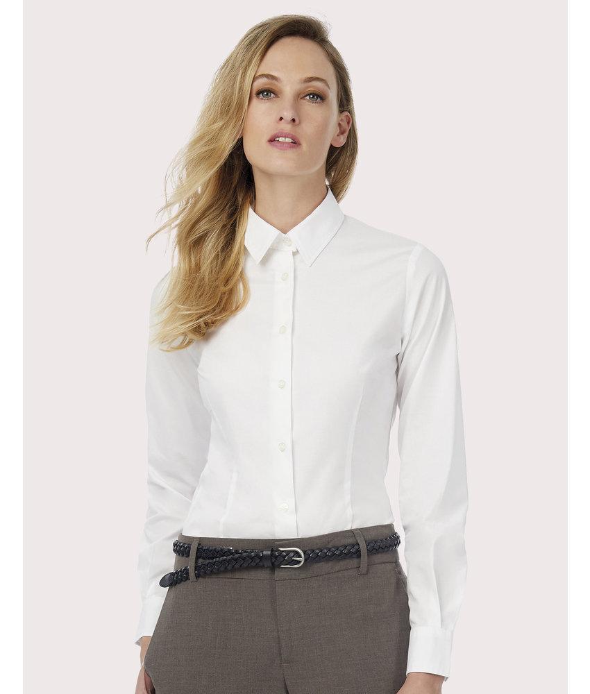 B&C | CGSWP23 | 712.42 | SWP23 | Black Tie LSL/women Poplin Shirt