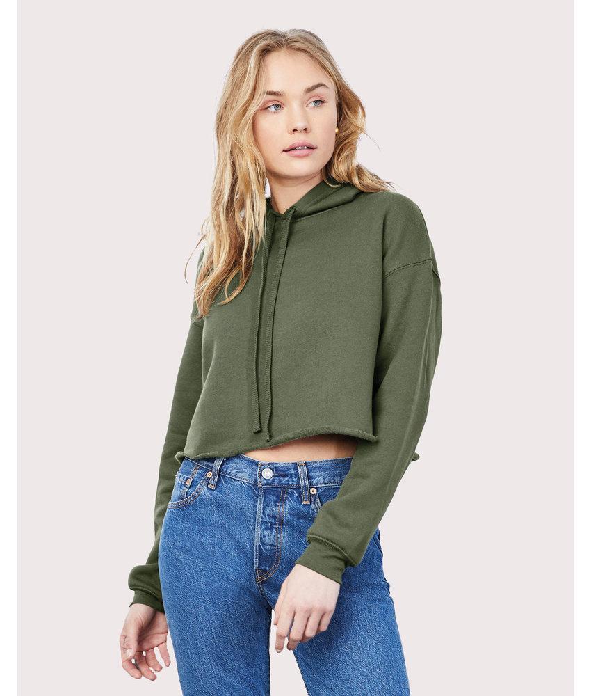Bella + Canvas | BE7502 | 202.06 | 7502 | Women's Cropped Fleece Hoodie