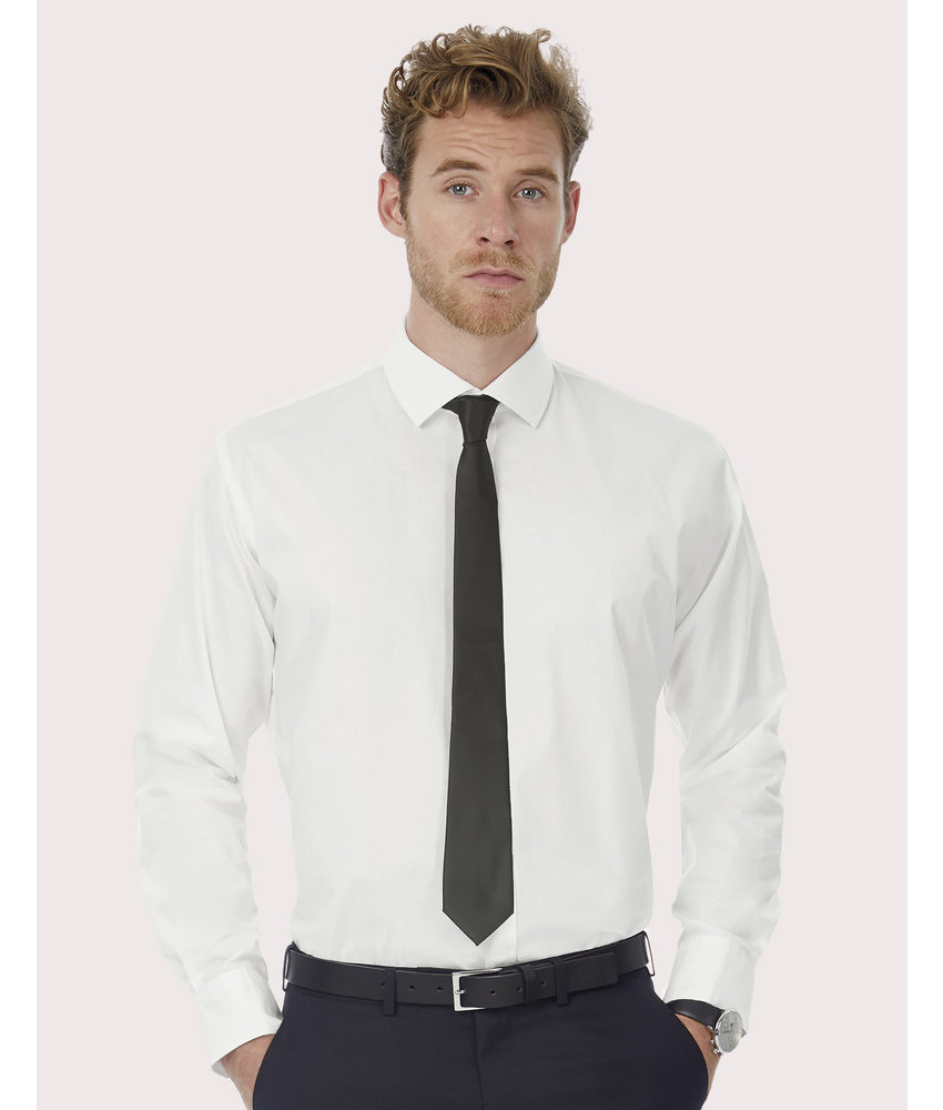 B&C | CGSMP21 | 722.42 | SMP21 | Black Tie LSL/men Shirt