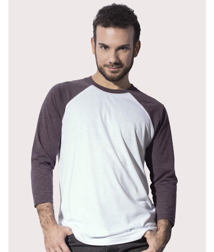 Nakedshirt | 108.85 | TU-LSL-R-TB040 | Jesse Unisex Baseball T-Shirt