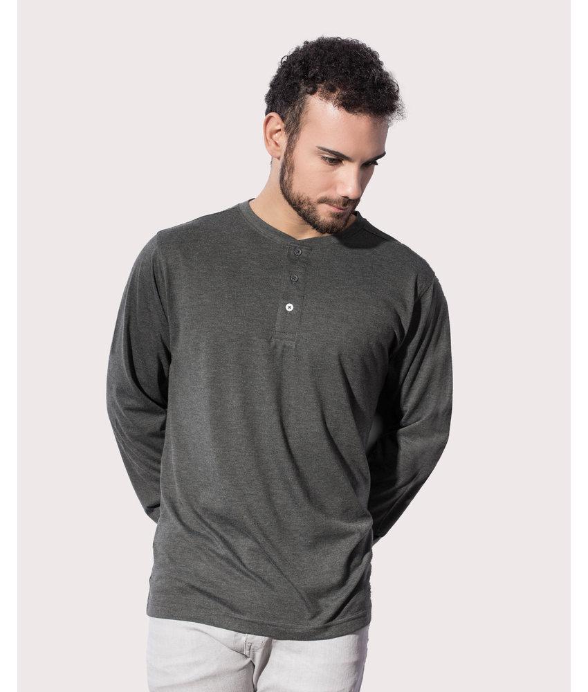 Nakedshirt | 112.85 | TM-LSL-B-TB041 | Aden Men's LS Henley T-Shirt