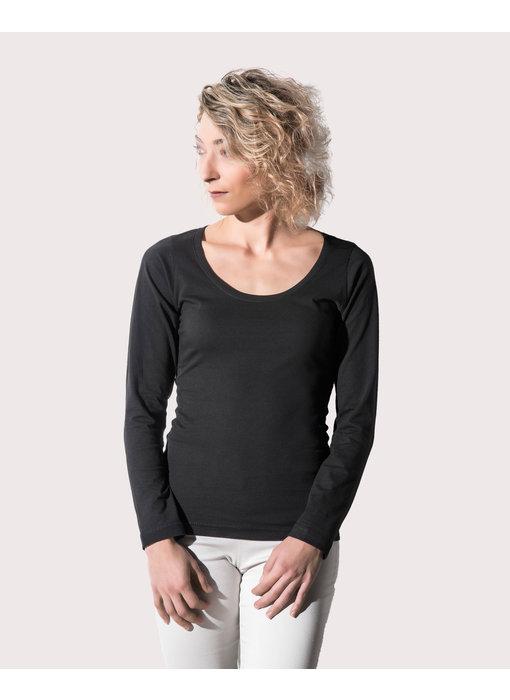 Nakedshirt | 128.85 | TF-LSL-R-OG114 | Sheila Women's Organic Deep Round LS