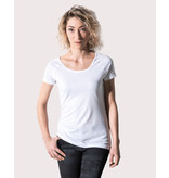 Nakedshirt Emily - Viscose-Cotton Rolled Up Raglan T-Shirt